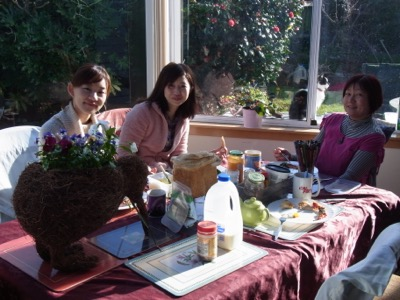 Christchurch Homestay Breakfast