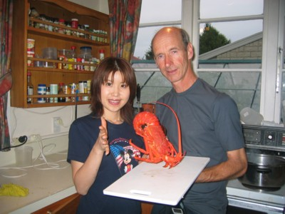 Crayfish dinner for Christchurch Homestay guests