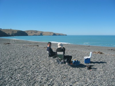 Morning tea on an Akaroa Day tour