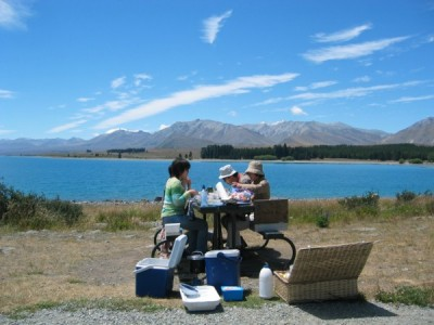 Lake Tekapo Morning tea